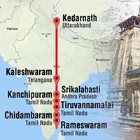 केदारनाथ से रामेश्वरम तक किस प्रकार हैं ये सात प्राचीन शिव मंदिर एक ही सीधी रेखा में?